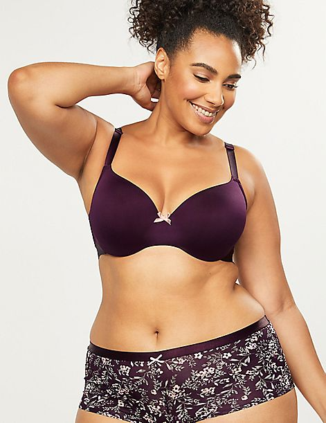 Convertible Smooth Lightly Lined Balconette Bra