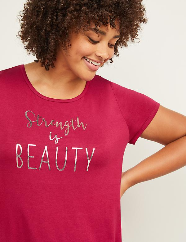 LIVI Active Strength is Beauty Graphic Tunic Top