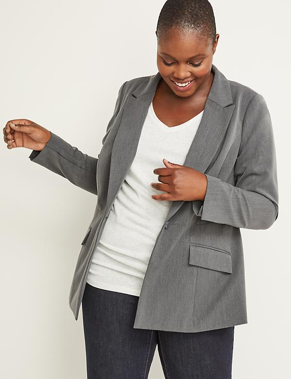 Tailored Stretch Peplum Blazer