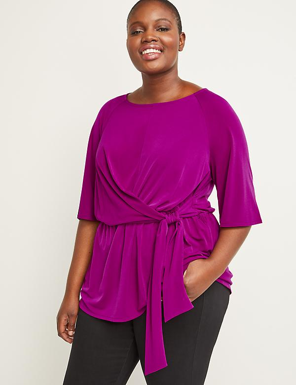 Matte Jersey Side-Tie Top