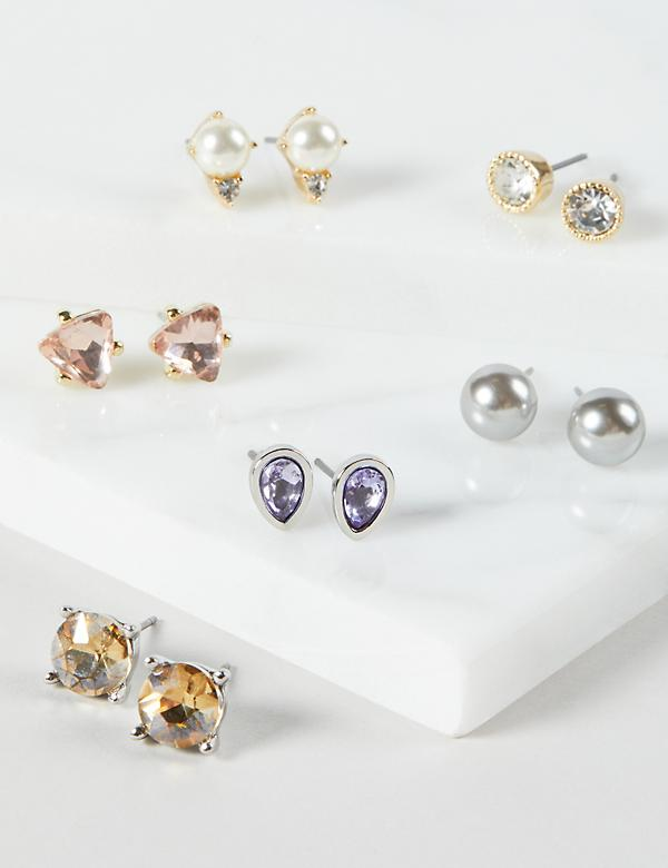 Stud Earring Pack - Faceted Stones & Beads