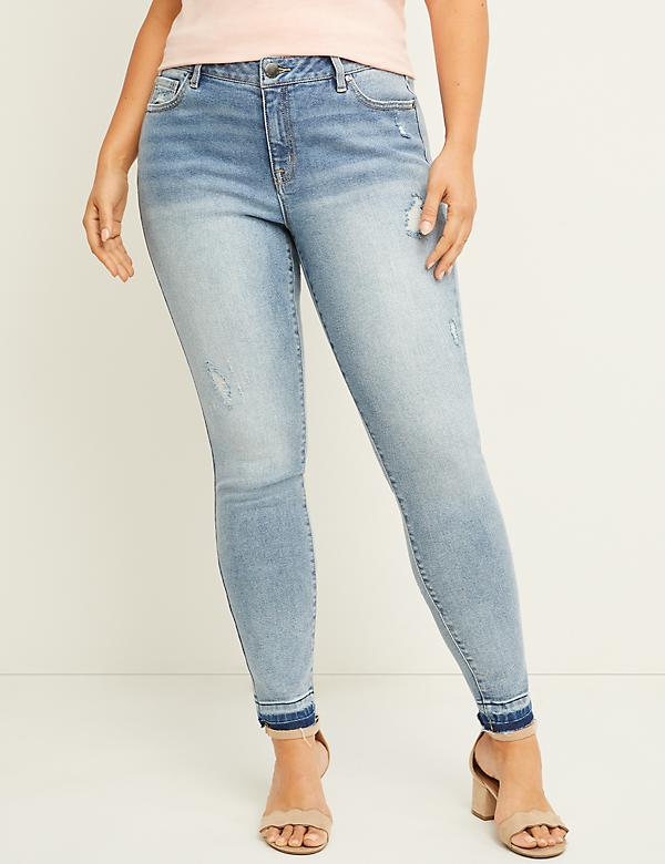 Signature Fit Skinny Jean - Released Hem with Destruction