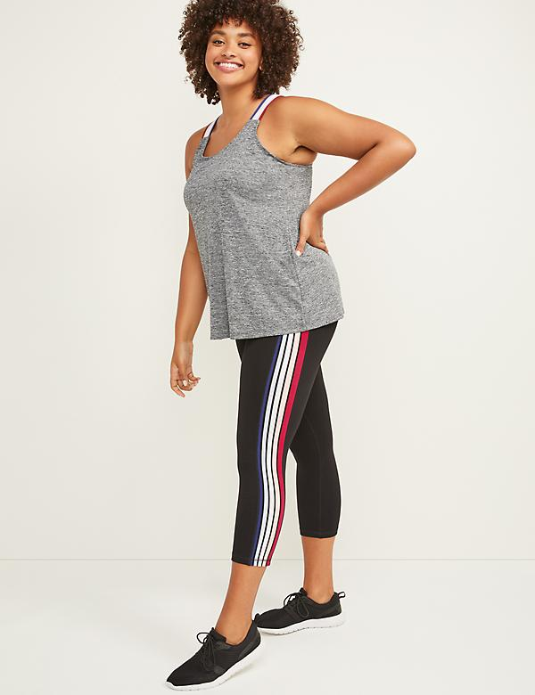 LIVI Active Signature Stretch Capri Legging - Side Stripe
