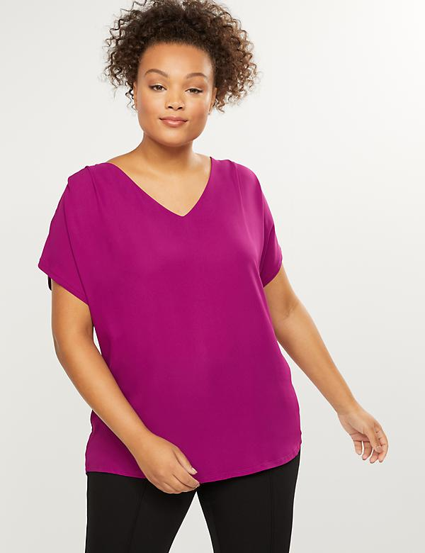 Mixed-Fabric Dolman Tee