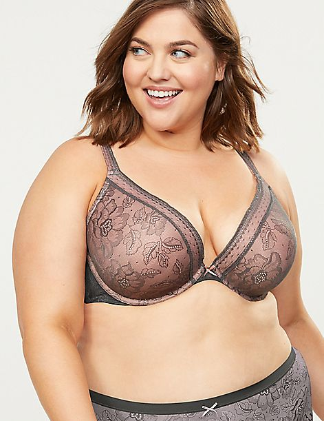 Lace Smooth Boost Plunge Bra