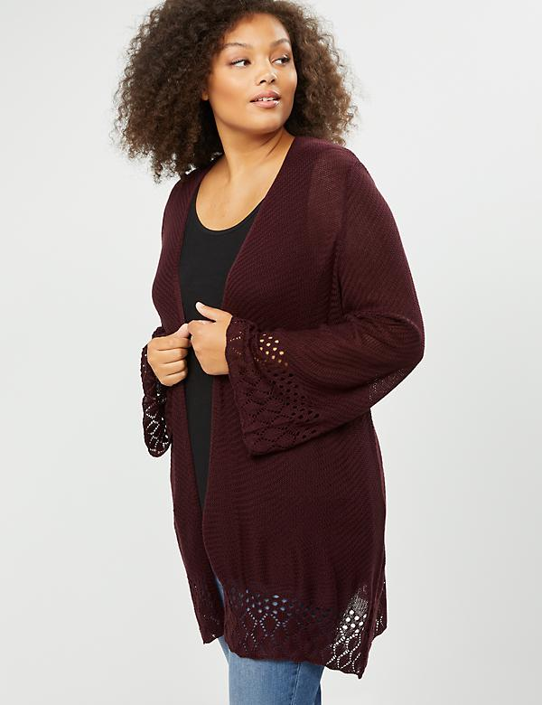 Wide Sleeve Textured Overpiece