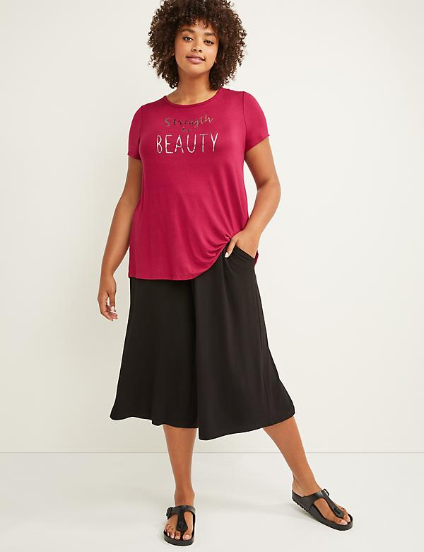 LIVI Active Wide-Leg Capri