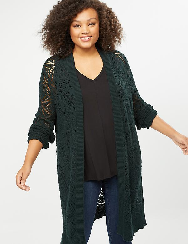 Pointelle Duster Overpiece