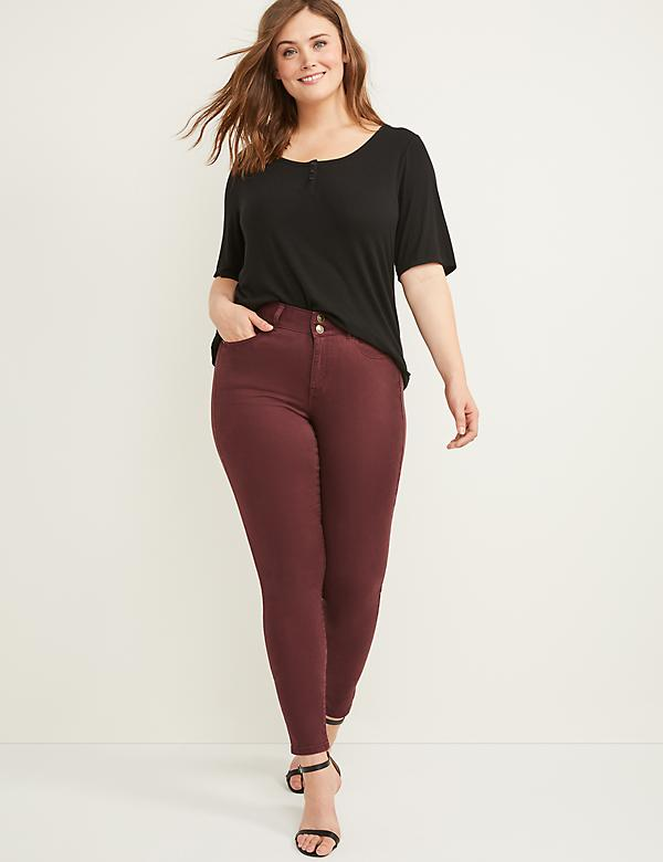 Tighter Tummy High Rise Skinny Jean - Winetasting