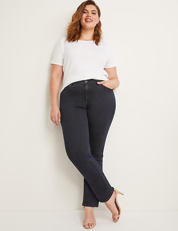 Tighter Tummy High Rise Straight Jean - Velvet Dark Wash