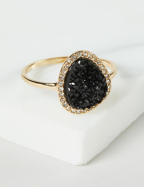 Faux Druzy Ring - Pave Setting