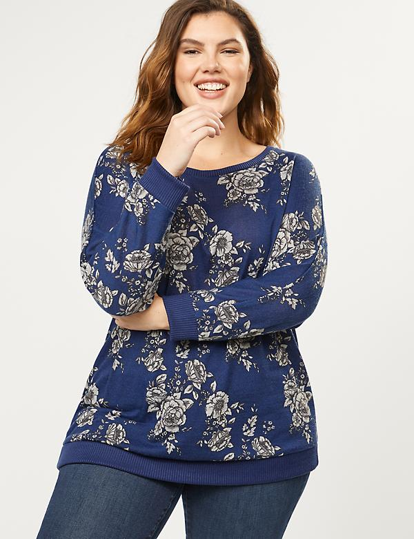 Softest Touch Floral Dolman Sleeve Top