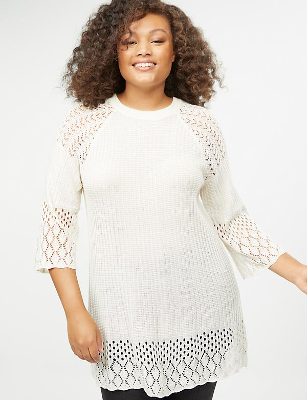 Pointelle Tunic Sweater