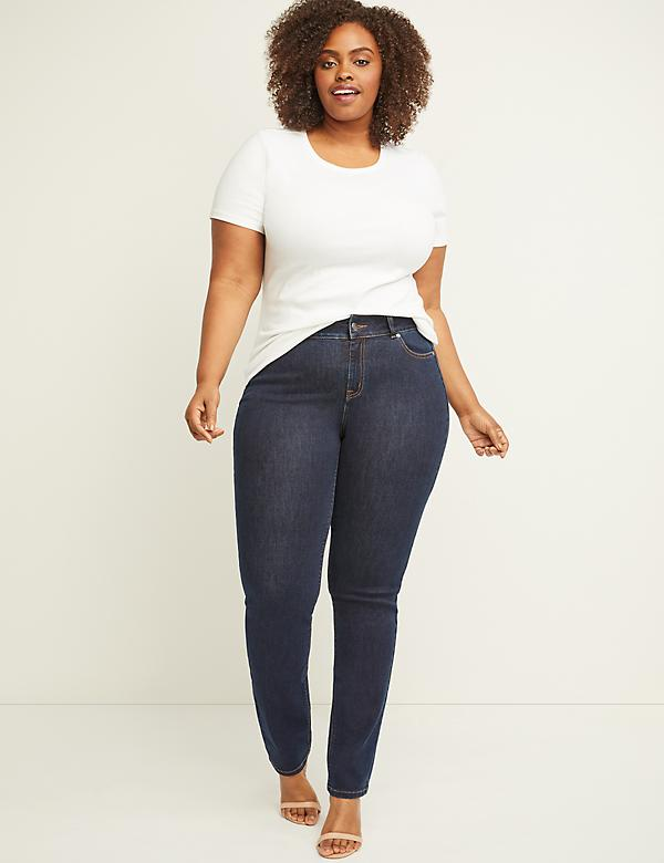 Curvy Fit High Rise Straight Jean - Ink Dark Wash