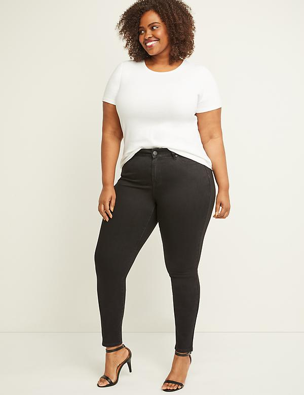 Curvy Fit High Rise Skinny Jean - Black
