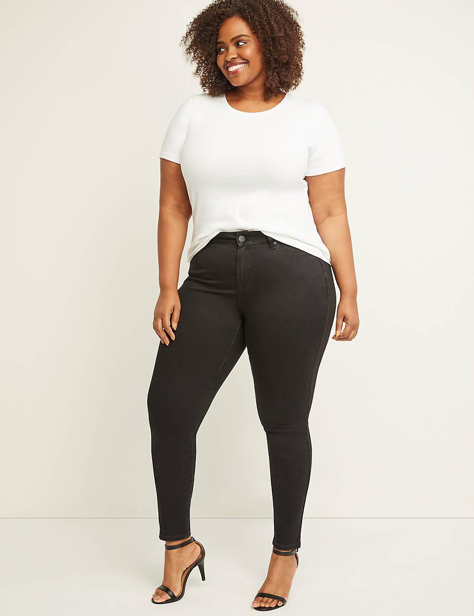 Curvy Fit High Rise Skinny Jean Black
