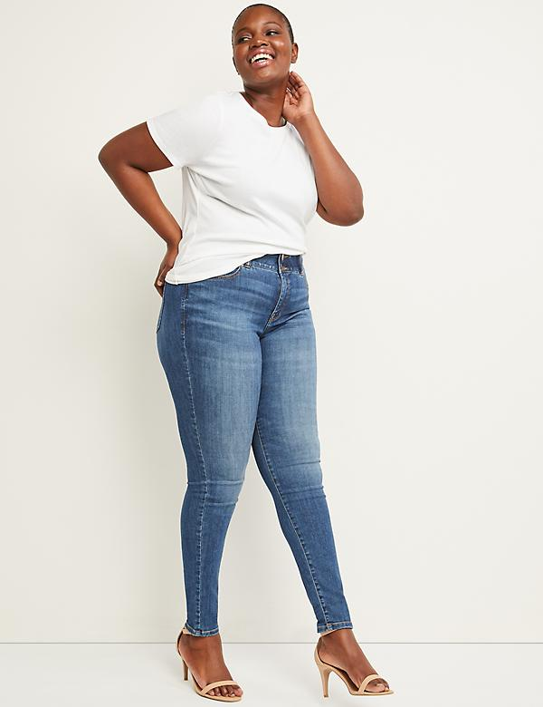 Tighter Tummy High Rise Skinny Jean - Rei Medium Wash