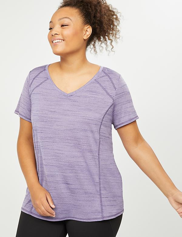 LIVI Active Wicking V-Neck Tee