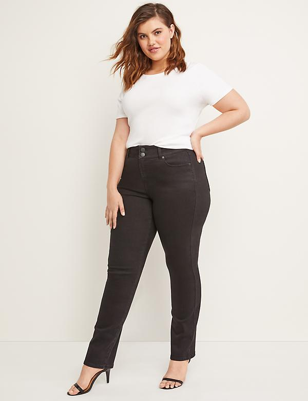 Tighter Tummy High Rise Straight Jean - Black