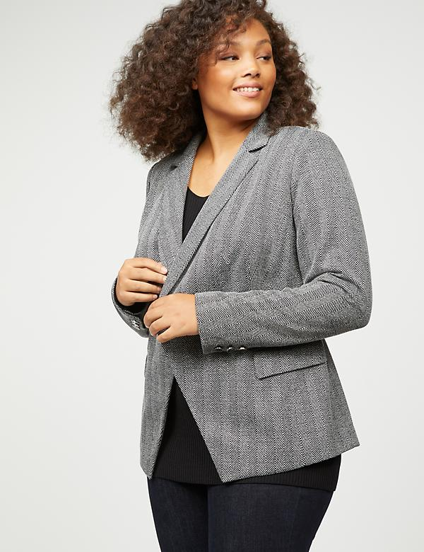 Double-Breasted Blazer - Herringbone