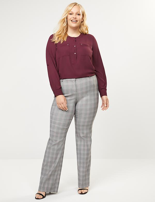 Allie Sexy Stretch Boot Pant - Plaid