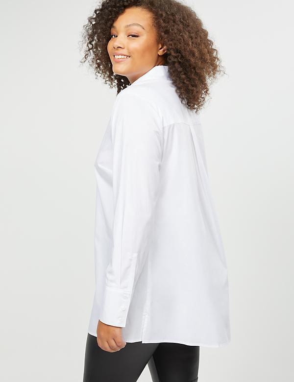 Girlfriend Button-Front Popover Tunic - alternate image