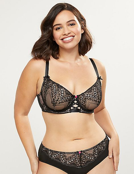 Embroidered Unlined Balconette Bra