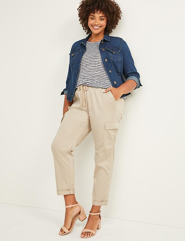 Pull-On Cargo Ankle Pant