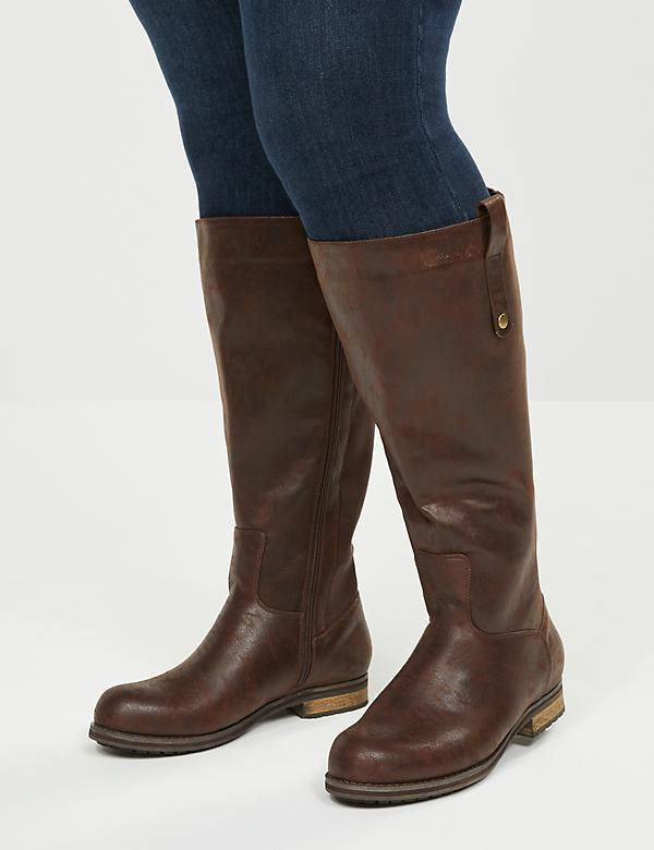 Zoe Classic Riding Boot - Wide Calf