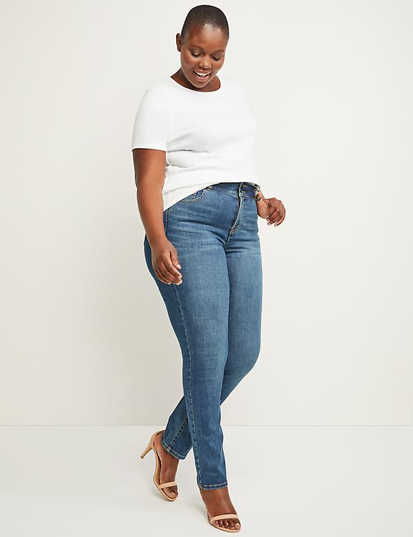 Tri-Sculpt High Rise Straight Jean - Santa Fe Medium Wash