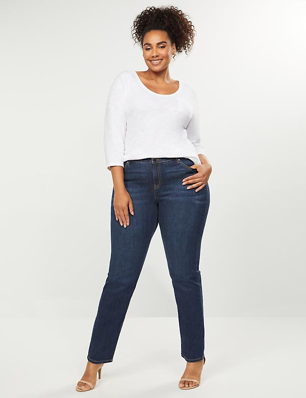 Signature Fit Straight Jean With Reinforced Inner Thighs
