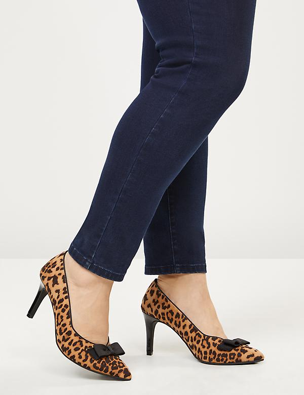 Leopard Print High Heel with Bow