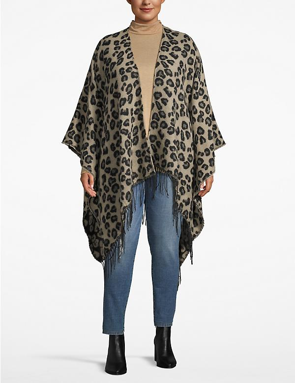 Reversible Animal Print Poncho Overpiece