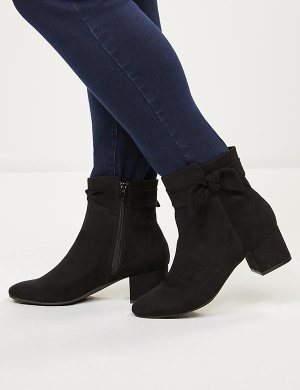 Audrey Suede with Bow Bootie