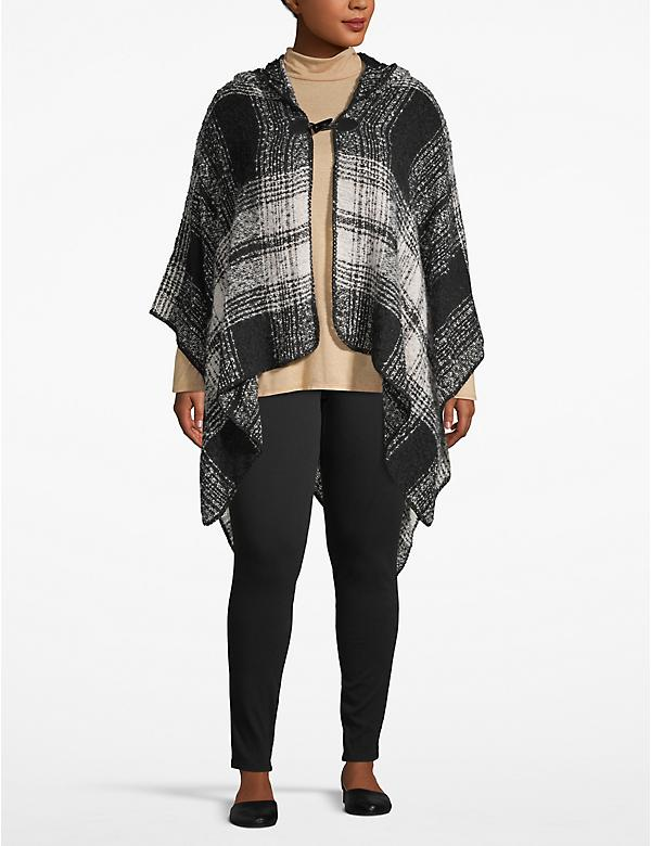 Hooded Poncho Overpiece