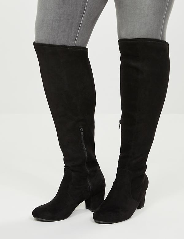Audrey Over-The-Knee Faux Suede Boot