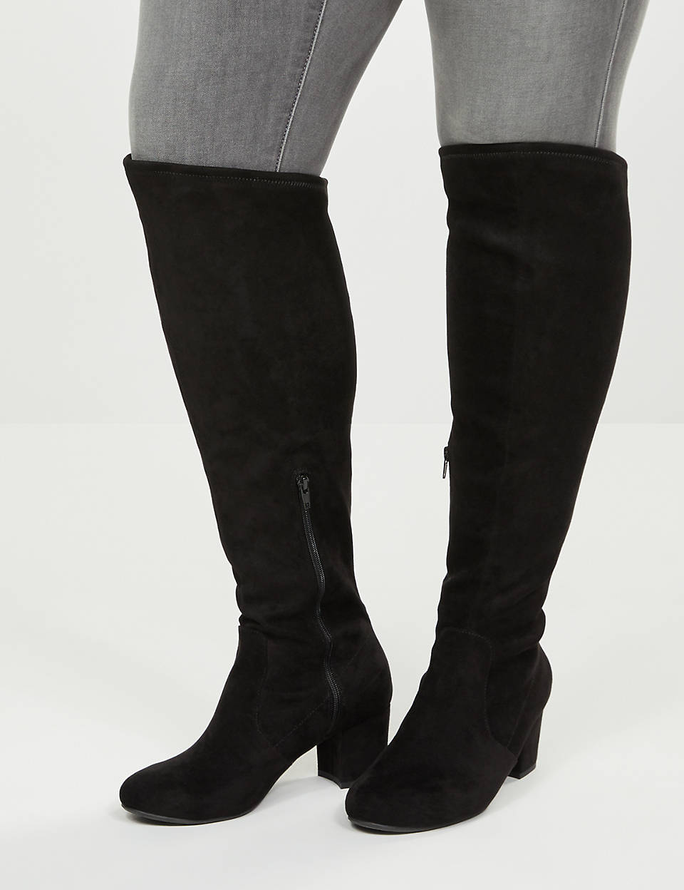 Audrey Over The Knee Faux Suede Boot