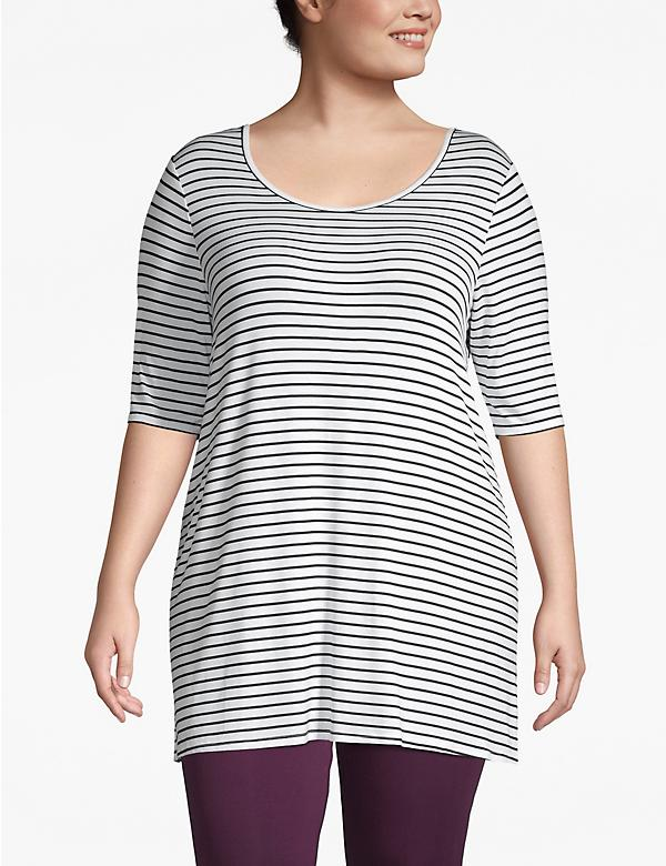 Active Striped Cross-Back Tee