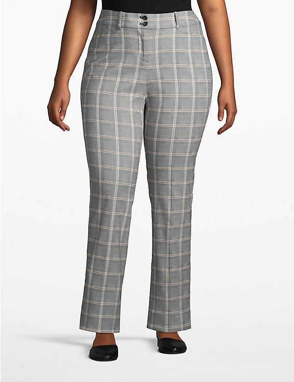 Madison Straight Pant - Plaid