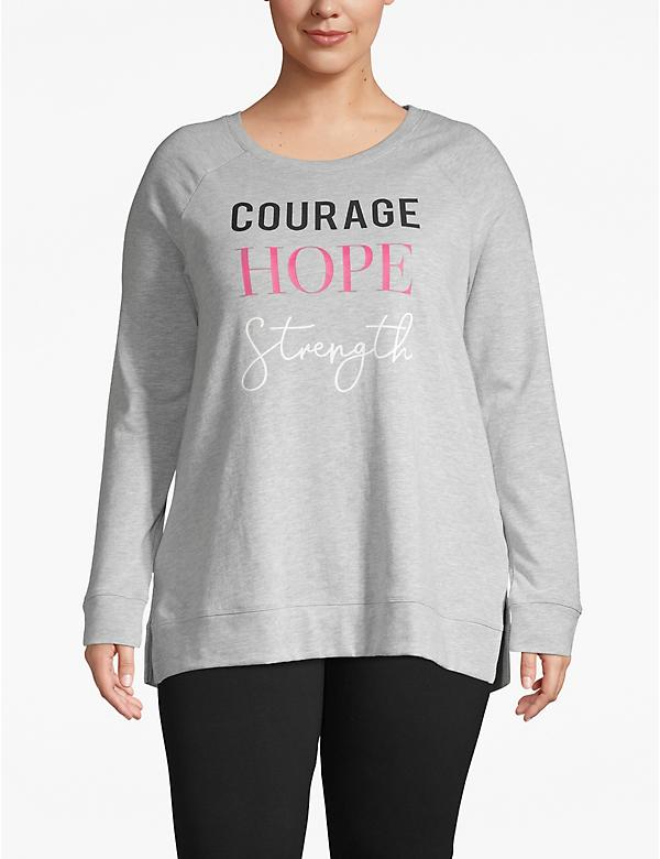 Active Courage Hope Strength Graphic Sweatshirt