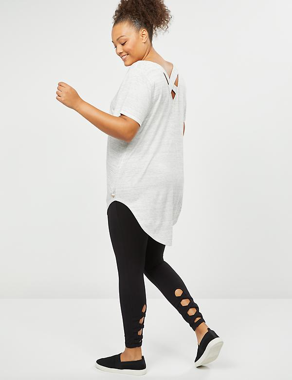 LIVI Active Signature Stretch 7/8 Legging - Lattice Hem