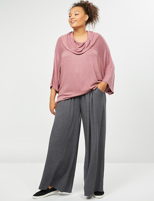 LIVI Active Wide Leg Pant - French Terry