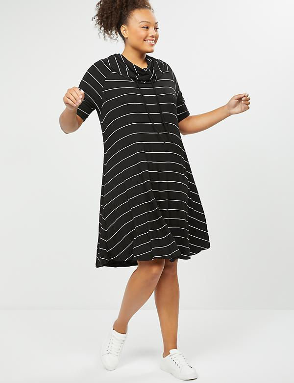 LIVI Active Cowl-Neck Swing Dress
