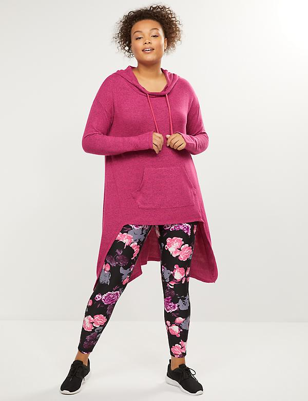 LIVI Active Hooded High-Low Tunic