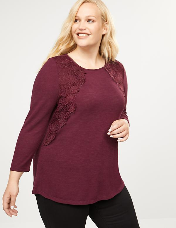 Softest Touch Swing Tee - Lace Applique