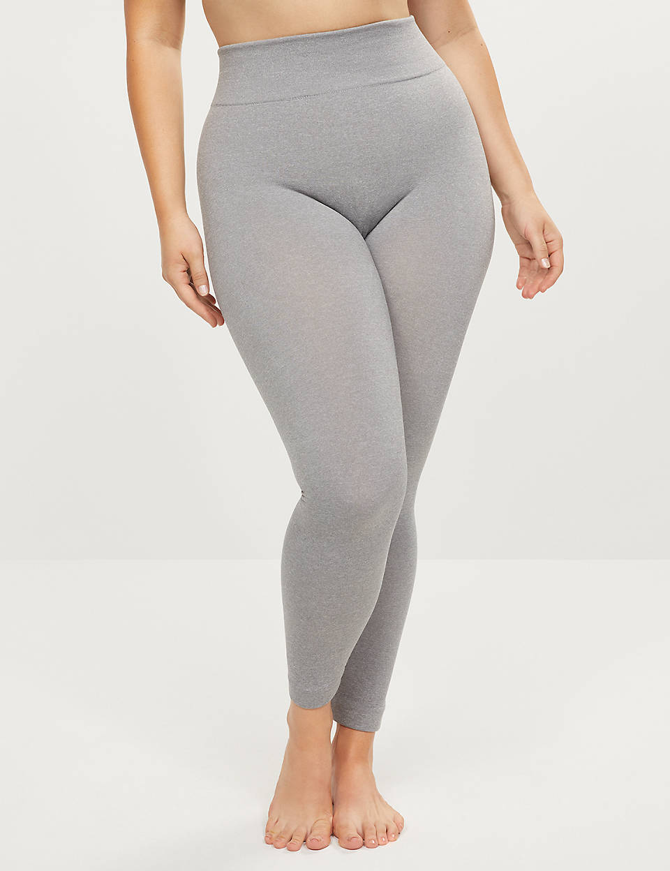 High Waist Fleece Lined Smoothing Leggings by Lane Bryant