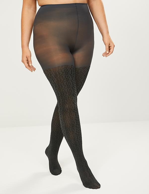 Animal Print Smoothing Tights