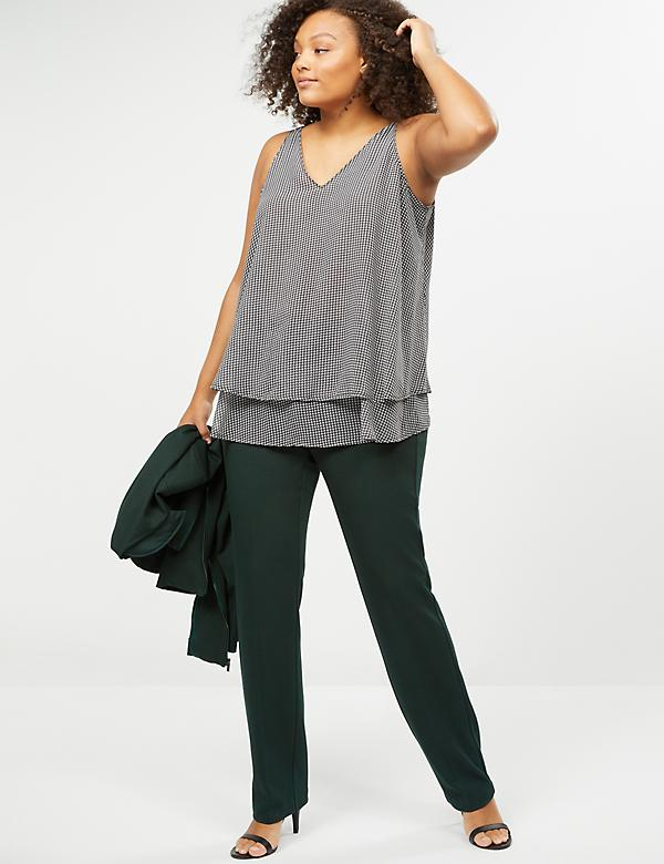 Allie Straight Leg Pant - Textured Ponte