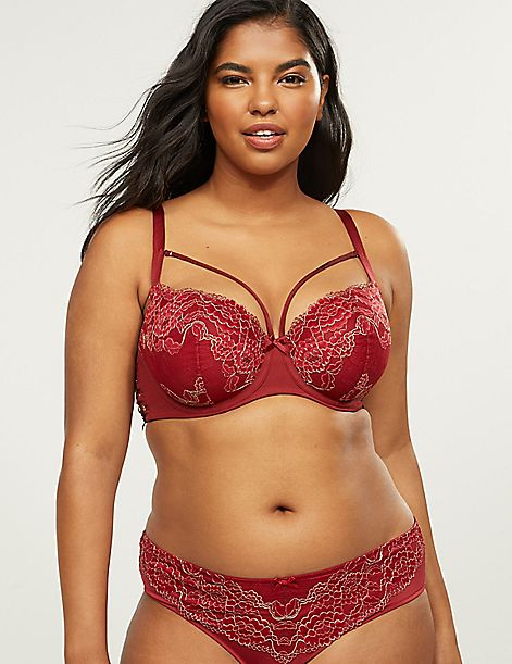 Boost Balconette Bra with Metallic Lace