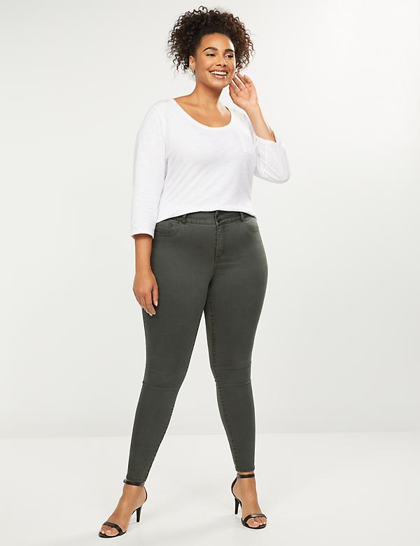Tighter Tummy High Rise Skinny Jean - Deep Forest